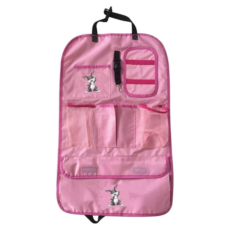 Rücksitzorganiser, ca. 41 x 64 cm, mit Logo, pink